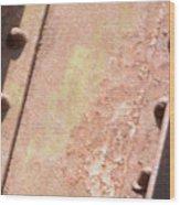Steel Beam Wood Print