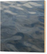 Steel Blue Wood Print