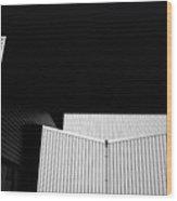 Steel Building Wood Print