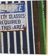 Steel City--safety Glasses Wood Print