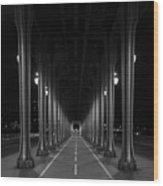 Steel Colonnades In The Night Wood Print