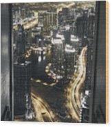Steel Curtains Wood Print