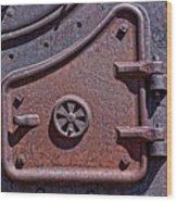 Steel Door Wood Print