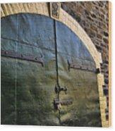 Steel Doors Wood Print