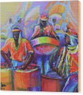 Steel Pan Carnival Wood Print