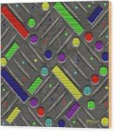 Steel Plate Geometrics Wood Print