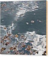Steel Sky On Lake Wood Print