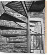 Steel Spiral Wood Print