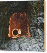 Steel Wool Photography In A Cave Wood Print
