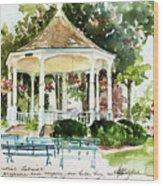 Steele Memorial Bandstand Wood Print