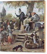 Steen: Quack, 17th Century Wood Print