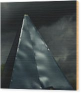 Steeple In The Clouds Wood Print