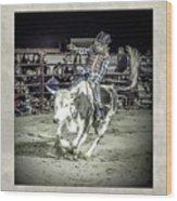 Steer Buck Out _c Wood Print