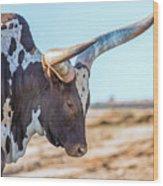 Steer Clear Wood Print