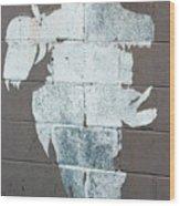 Steer Skull Abstract Wood Print