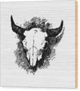 Steer Skull Tee Wood Print
