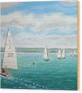 'steer The Course' - West Kirby Marine Lake, Wirral Wood Print