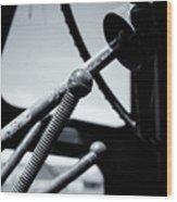 Steering Column Of Direction Wood Print