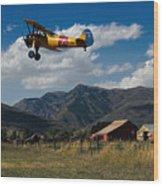 Steerman Bi-plane Wood Print