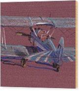 Steerman Biplane Wood Print