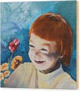 Stefi- My Trip To Holland - Red Headed Angel Wood Print