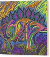 Stegasaurus Colorado Wood Print