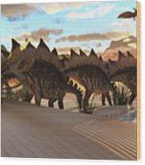 Stegosaurus Dinosaur Wood Print