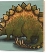 Stegosaurus Wood Print