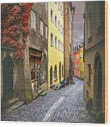 Steingasse Street Salzburg Austria  Wood Print