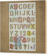 Stencil Alphabet Fun Wood Print