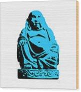 Stencil Buddha Wood Print