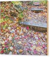 Step Into Fall Wood Print