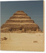 Step Pyramid 2 Wood Print