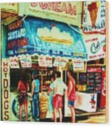 Stephanies Icecream Stand Wood Print