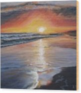 Stephanie's Sunset Wood Print