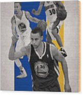 Stephen Curry Golden State Warriors Wood Print