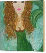 Stephie Splash Wood Print