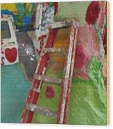 Stepladder To Heaven Wood Print