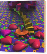 Stepping On Hearts Wood Print
