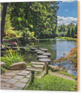 Stepping Stones Japanese Garden Maymont Wood Print