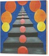 Steps And Circles Wood Print