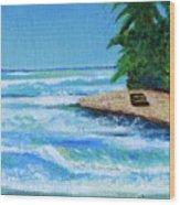 Steps Beach, Rincon Wood Print