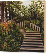 Steps Of Monte Rio Wood Print