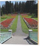 Steps To Duncan Garden Wood Print