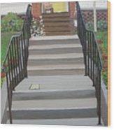 Steps To Recovery Wood Print by Lisa Urankar