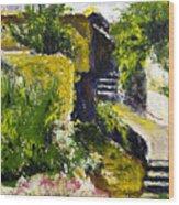 Steps To San Martin Wood Print