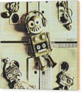 Stereo Robotics Art Wood Print