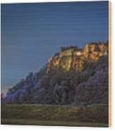 Stirling Castle Scotland At Night Wood Print