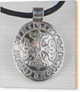Sterling Silver Viking Celtic Cross Wood Print