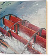Sternwheeler Splash Wood Print